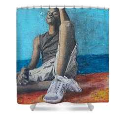Lost Oasis Shower Curtain
