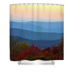 Lost On The Blueridge Shower Curtain by B Wayne Mullins