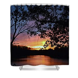Lost Sunset Shower Curtain by J R Seymour