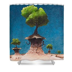 Lost Void Shower Curtain by Ethan Harris