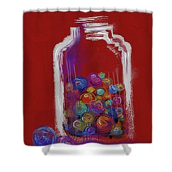 Lost Your Marbles? Shower Curtain