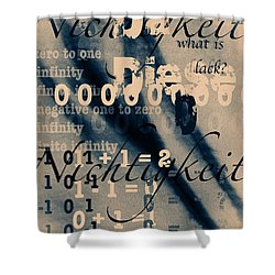 Lost--zero--nothingness Shower Curtain