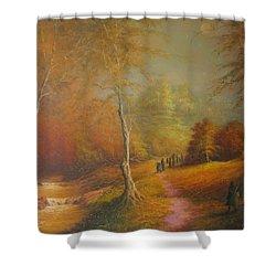 Lothlorien Shower Curtain by Joe  Gilronan