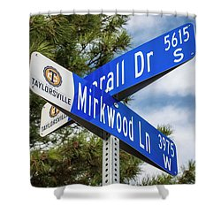 Lotr Mirkwood Street Signs Shower Curtain by Gary Whitton