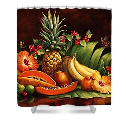Lots Of Fruit Shower Curtain by Laurie Hein