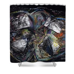 Lots Of Heart Shower Curtain by Frances Marino