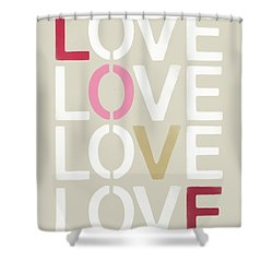 Shower Curtain featuring the mixed media Lots Of Love- Art By Linda Woods by Linda Woods