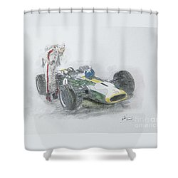 Lotus 43-brm H16 Shower Curtain
