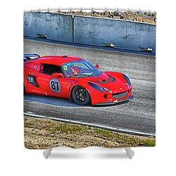 Lotus 87 Northeast Track Days Shower Curtain