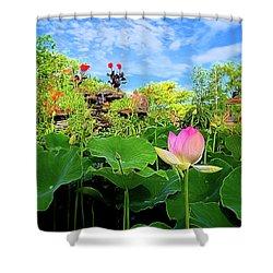 Lotus Alchemy Shower Curtain by William Horden