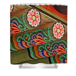 Lotus Beams Shower Curtain