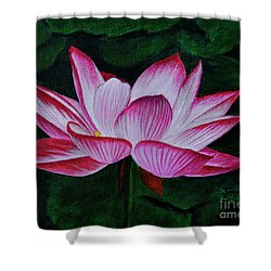 Shower Curtain featuring the painting Lotus Blossom by Jimmie Bartlett