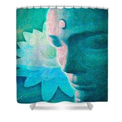 Lotus Buddah Shower Curtain
