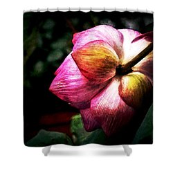 Shower Curtain featuring the digital art Lotus by Cameron Wood