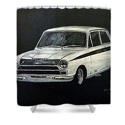 Lotus Cortina Shower Curtain