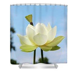 Lotus Debbie Gibson Flower Shower Curtain