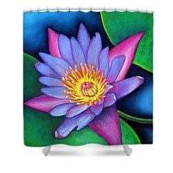 Lotus Divine Shower Curtain by Minaz Jantz