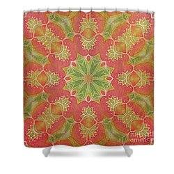 Shower Curtain featuring the drawing Lotus Garden by Mo T