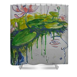 Lotus Head Shower Curtain
