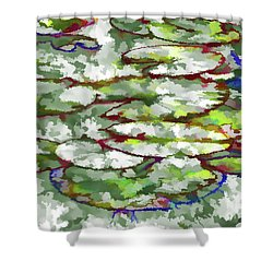 Lotus Leaves Shower Curtain by Lanjee Chee