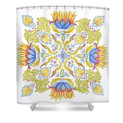 Lotus Mandala Shower Curtain by Stephanie Troxell