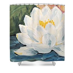 Shower Curtain featuring the painting Lotus by Maria Langgle