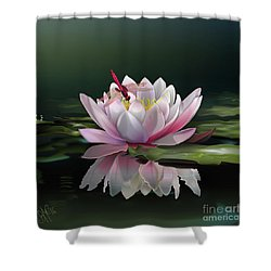 Lotus Meditation Shower Curtain