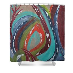 Shower Curtain featuring the painting Lotus Reborn by Sharyn Winters