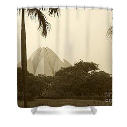 Lotus Temple Shower Curtain by Mini Arora
