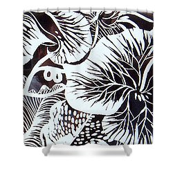 Loud Leaves  Shower Curtain