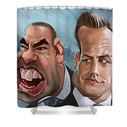 Louis And Harvey Shower Curtain