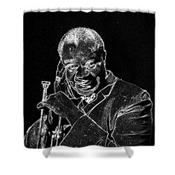 Louis Armstrong Shower Curtain by Charles Shoup