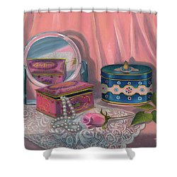 Louis Sherry Box Shower Curtain