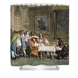 Louis Xiv & Moliere Shower Curtain by Granger