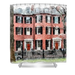 Louisburg Square Beacon Hill Boston Shower Curtain