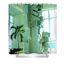 Louise Nevelson Sculpture Shower Curtain