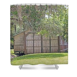 Louisiana Barn Shower Curtain by Dodie Ulery