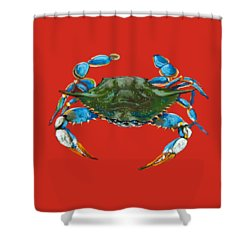 Louisiana Blue On Red Shower Curtain