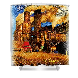 Louisiana Sugar Cane Poster 2012 Shower Curtain