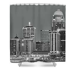 Shower Curtain featuring the photograph Louisville Black And White Panoramic 2016 by Frozen in Time Fine Art Photography