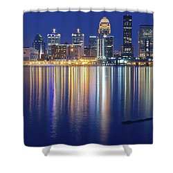 Louisville During Blue Hour Shower Curtain