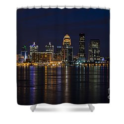 Shower Curtain featuring the photograph Louisville Skyline by Andrea Silies