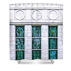 Louisville Temple Details Shower Curtain