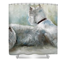 Lounge Shower Curtain by Mary Sparrow