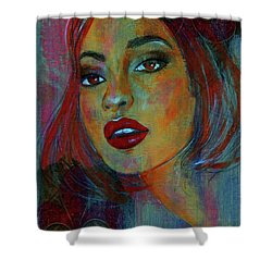 Shower Curtain featuring the painting Lourdes At Twilight by P J Lewis
