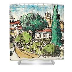 Shower Curtain featuring the painting Lourmarin Provence by Martin Stankewitz
