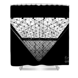 Lourve Pyramid Shower Curtain