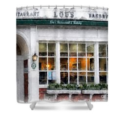 Lou's Of Hanover New Hampshire Shower Curtain by Edward Fielding