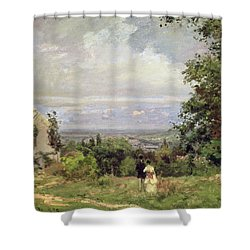 Louveciennes Shower Curtain by Camille Pissarro