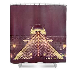 Louvre Palace And Pyramid Shower Curtain